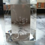 I got a fancy crystal/lucite thingy with my name on it!