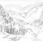 GHinds Greece sketchbook 1-18 Delphi