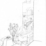 GHinds Greece sketchbook 1-21 Oia