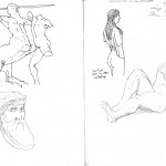 GHinds Greece sketchbook 2-10 Athens Museum