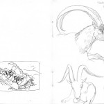 GHinds Greece sketchbook 2-13 goats and donkeys