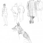 random people (and dog) sketches