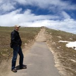 Climbing to the high point of Trail Ridge