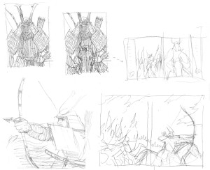 Samurai sketches 1b